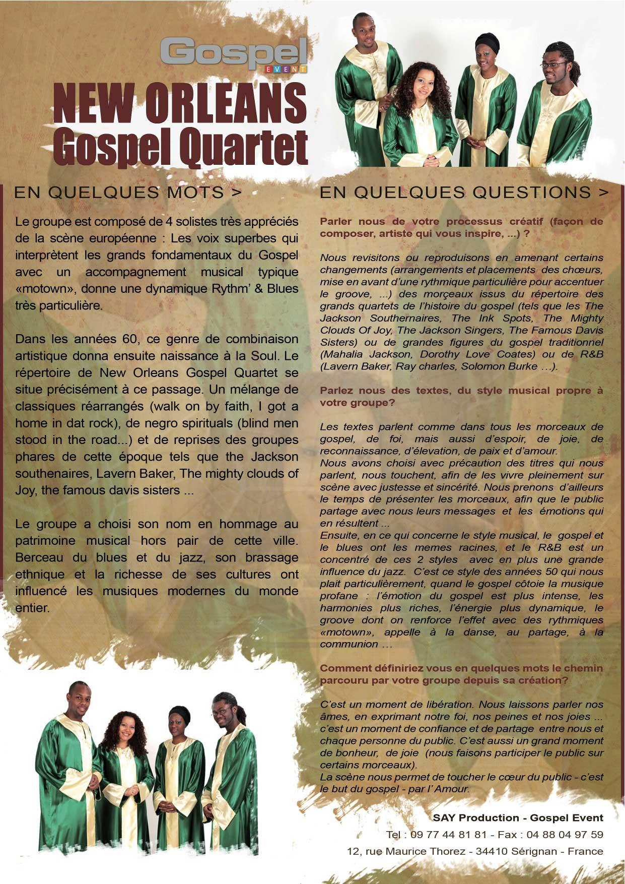 Choisi peu de groupe de gospel